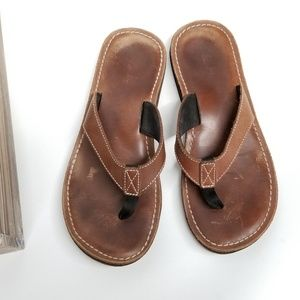 Clarks brown flip fop sandals
